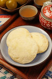 Sun cake. Also known as maltose pastry, sun cakes are a famous product of central Taiwan Royalty Free Stock Image