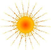 Sun caldo Fotografia Stock