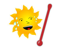 Sun caliente Imagen de archivo
