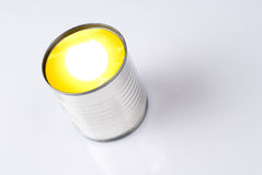 Sun into a can Stock Images