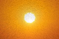 Sun. The sun can be seen in the cloudless sky and were extruded Stock Images