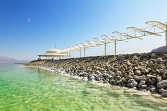 Sun canopies on the beaches Royalty Free Stock Photos