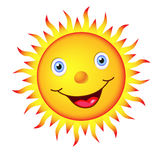 SUN. Caricature of the sun with a happy face Stock Photo