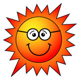 Sun cartoon. Illustration of sun cartoon on white background Stock Image