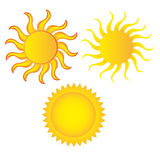 Sun cartoon. Isolated over white background. vector Stock Images