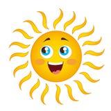 Sun cartoon. Happy sun cartoon isolated over white background vector Royalty Free Stock Photos