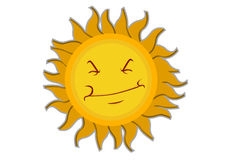 Sun Cartoon Character Stock Photo