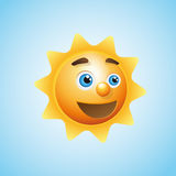 Sun cartoon character Royalty Free Stock Images