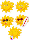 Sun cartoon character Stock Photography