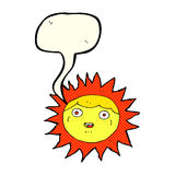 Sun cartoon character with speech bubble Stock Photos