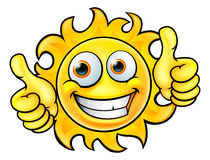 Sun Cartoon Mascot Royalty Free Stock Photography