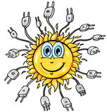 Sun cartoon with plung Stock Images