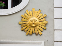 Sun carving in Regensburg Germany Stock Images
