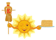 Sun celebrates Shrovetide celebration Royalty Free Stock Photo