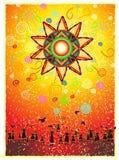 Sun celebration. Celebration of sun with fun people royalty free illustration