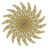 Sun in the Celtic style of ancient European ornament Royalty Free Stock Photography