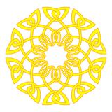 Sun in celtic style. Traditional medieval frame pattern illustra Royalty Free Stock Photos