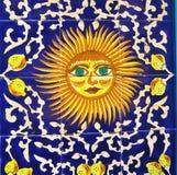 Sun ceramic tile,Sardinia, Italy Stock Photography
