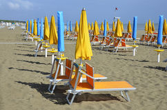 Sun chairs Royalty Free Stock Photography