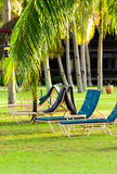 Sun chairs Royalty Free Stock Images