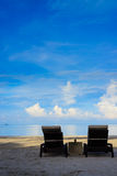 Sun chairs Royalty Free Stock Photos