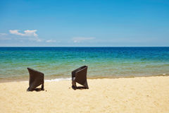 Sun chairs Royalty Free Stock Image