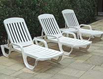 Sun chairs Royalty Free Stock Photo