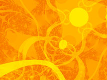 Sun Chaos - Illustration. Orange monotone illustration for use as a backdrop or graphic royalty free illustration