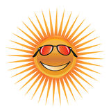 Sun character Royalty Free Stock Images