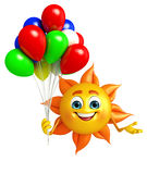 Sun Character With Balloon Stock Photo