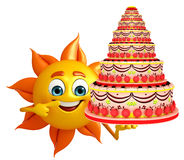 Sun Character With cake Stock Images