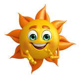 Sun Character is clapping Royalty Free Stock Photos