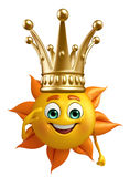 Sun Character With crown Royalty Free Stock Image