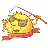 Sun character Stock Image