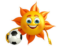 Sun Character With football Stock Images