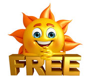 Sun Character With free text sign Stock Photo