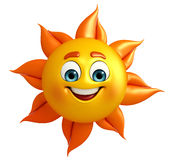 Sun Character is happy Royalty Free Stock Photography