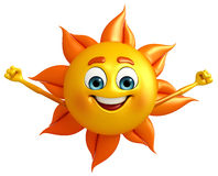 Sun Character with hello pose Stock Photography