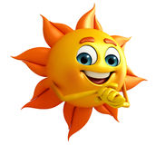 Sun Character With Stock Photo