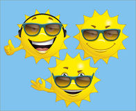 Sun character Royalty Free Stock Photos
