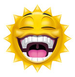 Sun character laughing Royalty Free Stock Images