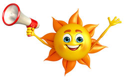 Sun Character With Loudspeaker Royalty Free Stock Photo