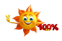 Sun Character With Percentage Royalty Free Stock Image