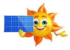Sun Character With solar system Royalty Free Stock Photography
