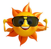 Sun Character With Sun glasses Royalty Free Stock Photos