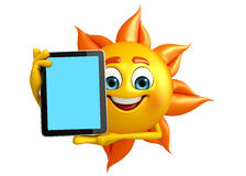 Sun Character With tab Royalty Free Stock Image