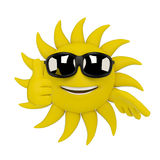 Sun character - thumbs up Stock Image