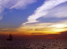 Sun che mette in Florida Fotografia Stock Libera da Diritti