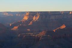 Sun che mette sopra Grand Canyon Fotografia Stock