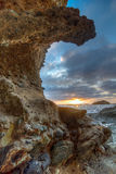 Sun che mette sopra il Laguna Beach Fotografie Stock
